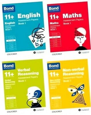 Bond 11+ Assessment Papers Book 1 English Maths Verbal Reasoning Non Verbal