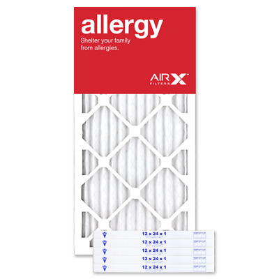 AIRx Filters Allergy 12x24x1 Air Filter Replacement Pleated MERV 11, 6-Pk