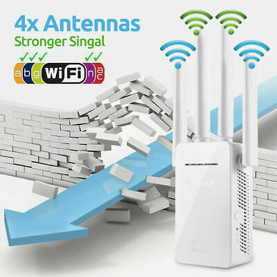 300Mbps WiFi Repeater Extender Signal Booster Wireless-N Router Range US O0K7S