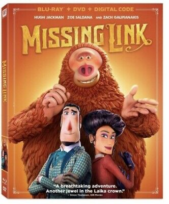 Missing Link(Blu-Ray+Dvd+Digital Code)W/Slipcover Free Shipping Ships 7/23/19