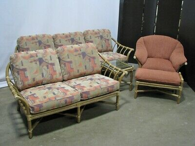 Five Piece McGuire Furniture Bamboo Set; Immaculate, Near-Mint Condition