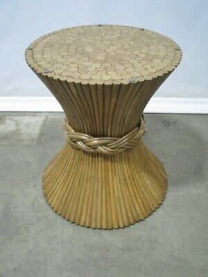 McGuire of San Francisco Sheaf of Wheat Round Dining Table Base