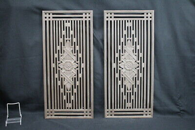 Pair of Cast Iron Vent Covers Chicago Board of Trade CBOT Architectural Salvage