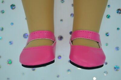 """Dolls Shoes For 17""""Baby Born~18""""American Girl HOT PINK SHOES"""