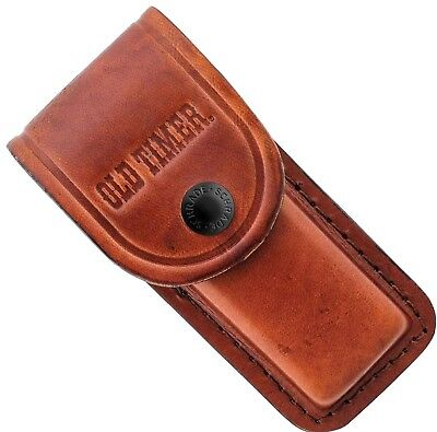 """Schrade Old Timer Large Brown Leather Belt Sheath Pouch Overall Length 5.78"""" LS2"""