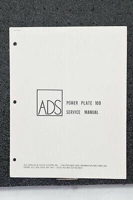ADC CD3 Compact Disc Service Manual with Schematics, Procedures, Parts List
