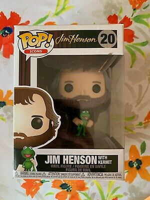 Funko Pop! Icons 20: Jim Henson - Jim Henson With Kermit Figure! New! Wow!