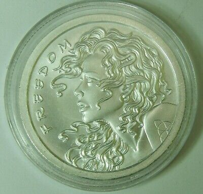 2013 1 Troy Ounce Silver Bullet Silver Shield 1oz .999 BU Freedom Girl Round 7