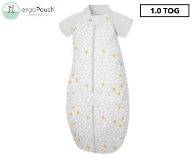 ergoPouch 1.0 Tog Baby Sleeping Suit Bag - Grey Triangle Pops