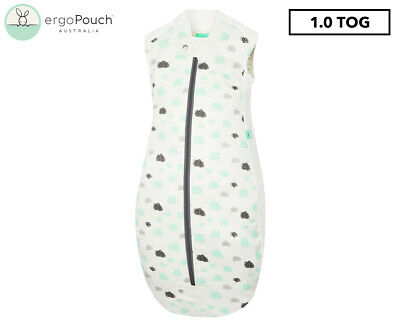 ergoPouch 1.0 Tog Baby Sheeting Sleeping Bag - White Clouds