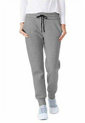 32 Degrees Ladies Tech Fleece Jogger, Heather Grey, Variety Size