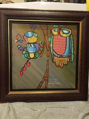 LEBO David Le Batard: Giclee Canvas OWLS as if it was always meant  Limited 350