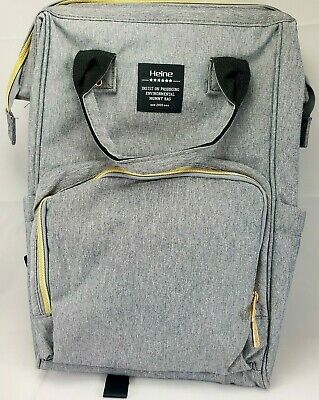 Heine Mummy Maternity Nappy Diaper Bag Large Capacity Baby Bag Travel Backpack