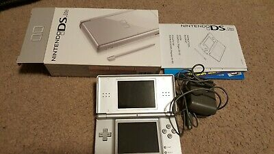 Nintendo ds lite console grey with charger and stylus
