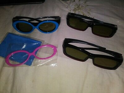 Samsung lot of 3 SSG-2200aR/za 2200kr/za Rechargeable 3D Active Glasses