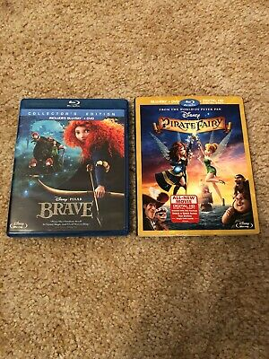 Dianey Brave Collectors Edition And Disney Pirate Fairy Blu Rays