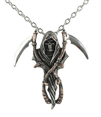 Reaper's Arms Pendant - Alchemy Gothic Grim Reaper/Angel of Death Totem/Talisman