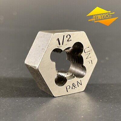 "*Near New* P&N 1/2"" Unf Hex Die Nut 1-1/16"" Diameter Made In Australia P&Ndn1"