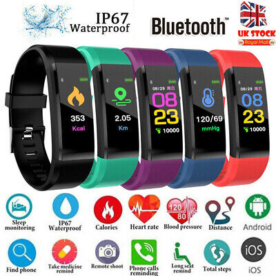 UK Fitness Smart Watch Band Sport Activity Tracker For Kids Fit bit Android iOS