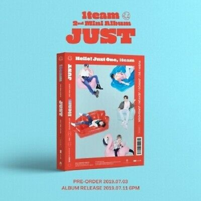 1TEAM - JUST (2nd Mini) CD+Photobook+Postcards+Photocards+Poster+Tracking No.