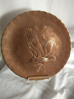 Bronze plate Wendell August Forge, Hand Made Engraved eagle MAGA Old Abe