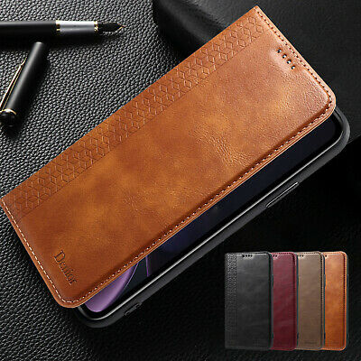 For iPhone 7 Plus 8 XS Max XR Case Retro Magnetic Flip Leather Card Wallet Cover