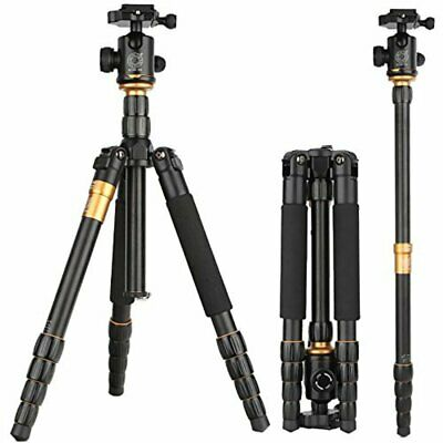 Q666 Carbon Fiber Tripod monopod&Ball Head for Canon Nikon DSLR Camera DV EK