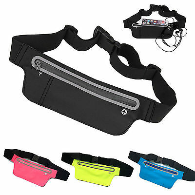 Running Sport Bum Bag Travel Money Phone Fanny Pack Waist Belt Thin Pouch Unisex