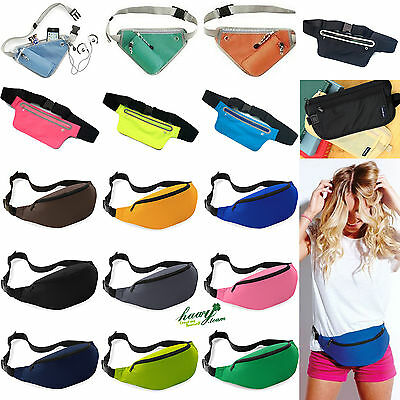 Bum Bag Fanny Pack Travel Sports Gym Waist Money Belt Pouch Jogging Wallet Bags