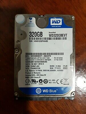 "Western Digital Scorpio Blue 320 GB Internal 5400 RPM 2.5"" WD3200BEVE Hard Drive"