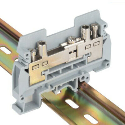 10pcs URTK/S Din Rail Mounted Terminal Block 0.5~6mm² Wiring Connector 27A/800V
