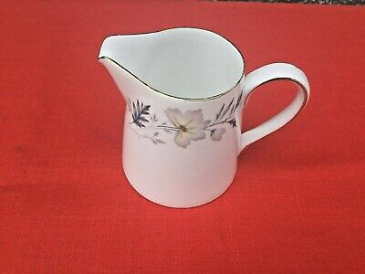 Vintage Bone China Milk Jug Creamer Royal Tuscan England Flowers Leafs Tea Set