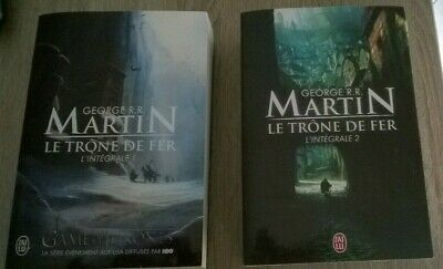 Game Of Thrones Le Trone De Fer Lot 2 Livres Tomes 1 Et 2