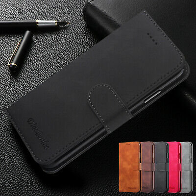 For iPhone 7 Plus 8 6s XS Max XR Case Magnetic Premium Leather Flip Wallet Cover