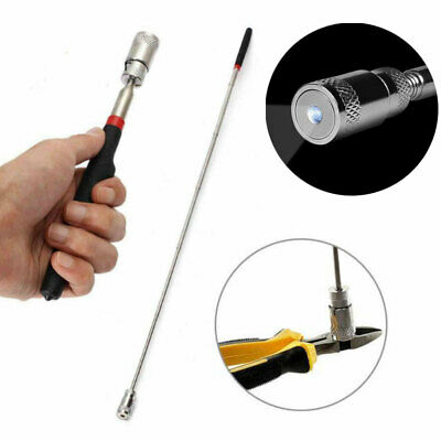 Telescopic Magnet With LED Torch Light Telescopic Magnetic Pick Up Tool