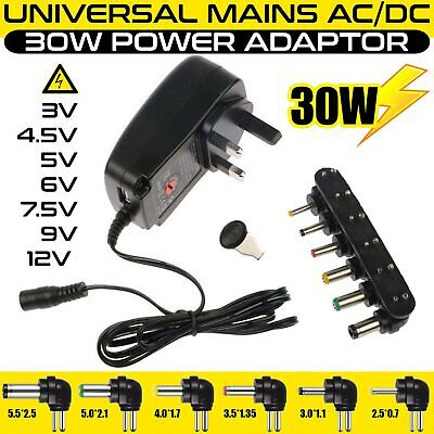 Universal AC to DC Adjustable Multi Voltage Power Supply Adapter Plug Charger UK