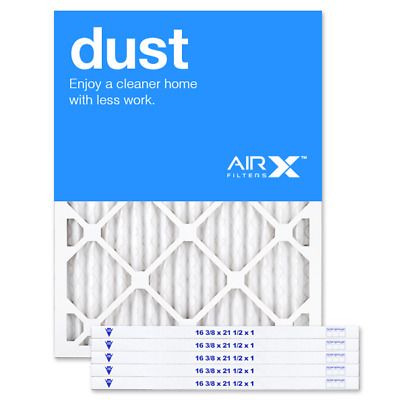 AIRx Filters Dust 16.37x21.5x1 Air Filter Replacement Pleated MERV 8, 6-Pk