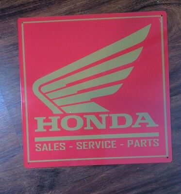 Honda Gold wings parts sales service 12 x 12 sign vintage advertising 50002
