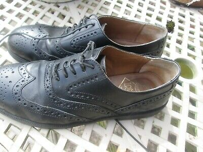 lotus mens leather blacl lace up shoes size uk 8 eu 42