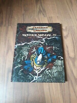 Dungeons and Dragons D&D Supplement Monster Manual IV 3rd 3.5 edition 2006