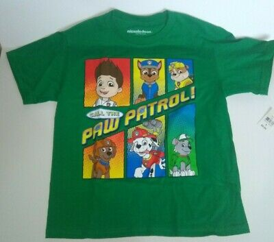 Nickelodeon Paw Patrol T-shirt - size 8 Green - 100% cotton - New with tag