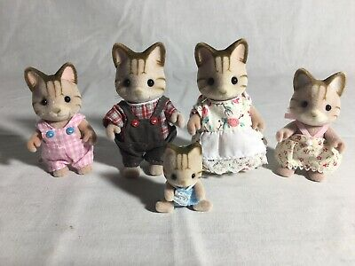 Calico Critters/sylvanian Families Sandy Cat Family Of 5