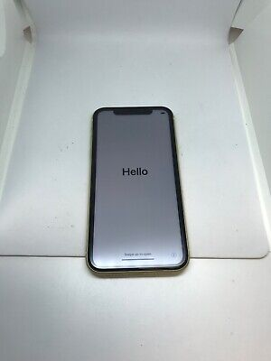 Good condition Apple iPhone XR - 64GB - Yellow (AT&T/ Cricket)