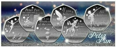 PETER PAN 50p COINS 6 PIECE COIN SET  90th ANNIVERSARY NEW RELEASE READY TO POST