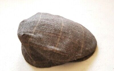 ANTHONY GRAHAM FLAT CAP HAT Vintage Grey Brown Size 7 1/4 Made In UK RRP £45