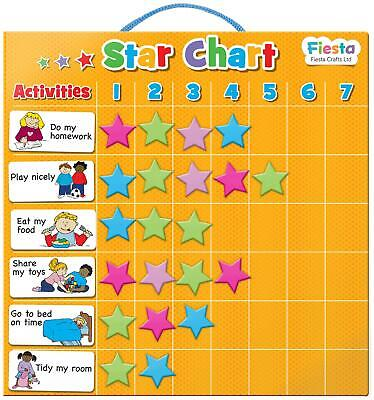 Fiesta Crafts MAGNETIC STAR CHART Educational Childrens Toy BNIP
