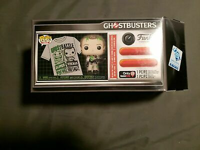 Funko Pop & Tee Sdcc 2019: Ghostbusters - Venkman Vs Slimer! Size: Small! New!