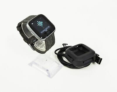Fitbit Versa FB505BKGY Special Edition Charcoal w/ Woven Band, Small