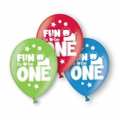 12 x 1st Birthday Balloons Fun to be 1 Party One Happy First Helium Latex