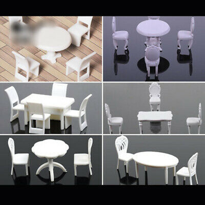 1:50  5pc/set Table Chairs Miniature Landscape Fairy Garden Decor Dollhouse New